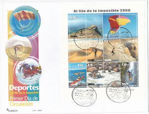 Spain FDC 2006 Souvenir Sheet – Michel nº 4110/15 Block