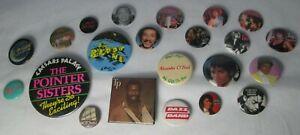 Bloodstone Michael Jackson Etc 22 X Vintage 80s US Soul Funk Pin Button Badges