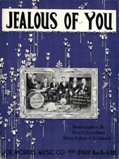 Jealous Of You, 1921, the Versatile Serenaders on cv, by Freedman, Ingham and