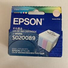 Epson color ink cartridge S020089 for Stylus 400/600 600Q/800 & more -