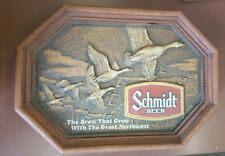 Vintage Schmidt Beer Advertising Plastic Sign Canada Geese