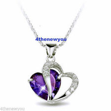 Heart Crystal Amethyst Costume Necklaces & Pendants