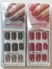 (2) Kiss imPress Press-On Manicure, Goal Digger & Tweetheart