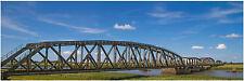 "HO Scenery Background Railroad Bridge 12"" high x 36"" wide poly poster media"