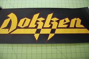 "DOKKEN Rare Original Vintage Promo Poster- Banner Style- Approx. 24"" x 9"" Nice"