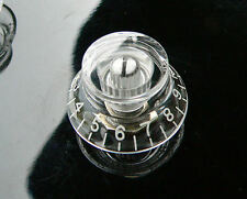 Transparent Skirted/Top Hat Speed Knob for Les Paul guitar set of 4 knobs
