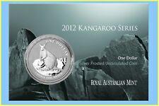 2012 Kangaroo Silver Frosted UNC - Mareeba Rock-Wallaby