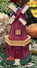 Dollhouse Fairy Garden Accessories Fall Harvest Windmill Lighthouse Htf