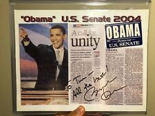 President Barack Obama Signed BAS BECKETT LOA