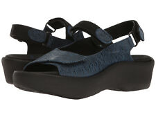 New Womens WOLKY Jewel Denim Canals Blue Leather Sling Back Mary Jane Sandals
