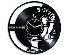 Blacksmith Halloween Gift for Husband Vinyl Wall Clock Decor Handmade Art Work