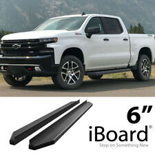 iBoard Black Running Boards Style Fit 19-20 Chevy Silverado GMC Sierra Crew Cab