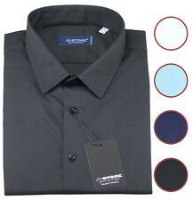 Camicia da uomo Taglie Forti stretch cotone elasticizzato manica lunga tg 39/55
