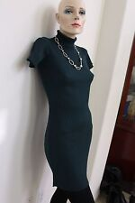 Victoria's Secret Moda International Green Turtleneck Ribbed Sweater Dress S