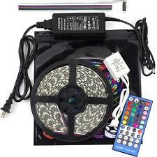 24V 5M 5050 RGBW RGB White 300 Led Flex Strip Light WP & controller & power kit