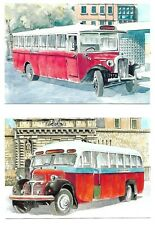 Malta( End of an Era Buses ) Set of 20 Maximum Cards without Stamps Rare