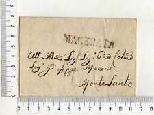 16646) Stampless Cover - Prefilatelica Tassata Folder (No text) MC Montesanto