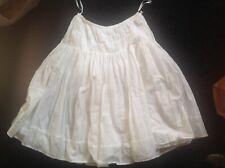 Ladies White Cotton Gypsy Skirt Size 8 M&s Nwot