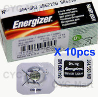 Energizer 364 SR621SW Silver Oxide Battery x 10 pcs, Made in USA FREE POST WW