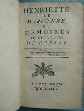 MEMOIRES DU CHEVALIER DE PRESAC 1763 + MARQUIS DE ST A., 1761.