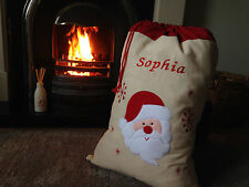 Large Embroidered Personalised Christmas Santa Sack xmas stocking  50 x 70 cms