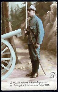 WW1-FRENCH PATRIOTIC POSTCARD