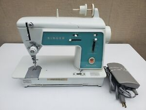 Vtg 1966 Singer Touch & Sew 628 Deluxe Zig Zag Sewing Machine --Tested and Works