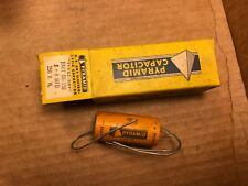 NOS NIB 1950s Pyramid 8 + 8 uf at 150v Paper Tube Amp Capacitor