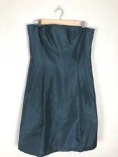Ann Taylor Blue Strapless Dress, 100% Silk, Size 10
