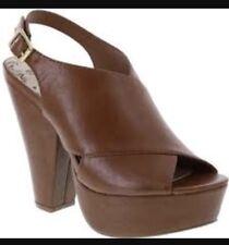 Brash Havana Cognac Tan Heel Size 12    5.5 Inch Wedge Heel Nwob