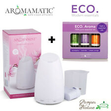 Aromamatic Serene Mist Diffuser + Eco Aroma Pure Essential Oils Trio Pack