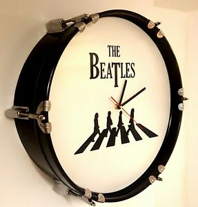 The Beatles Abbey Road Upcycled 22inch Bass Drum Clock