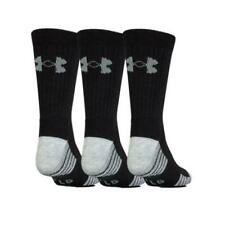 Under Armour HeatGear Tech Crew Socks - Pack of 3, Black