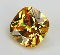 9X9MM 5.07CT AAAAA Yellow Zircon Square Cushion Faceted Cut VVS Loose Gemstone