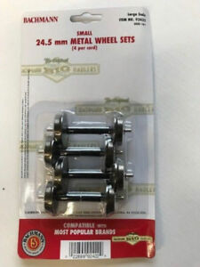 Bachmann 92422 G Scale Small Metal Wheels, Set of 4, 2 Pairs, 24.5mm Brand New