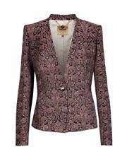 TED BAKER pink black floral print jacquard tailor smart suit blazer jacket 2 10