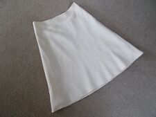 BASQUE PETITES SIZE 10 LINEN / SILK CREAM SKIRT FULLY-LINED