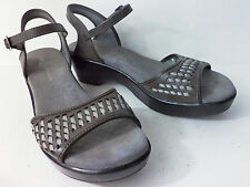 J-41 Adventure On Albury US 8M Gray Vegan Platform Wedge Sandal Shoe Ankle Strap