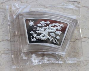 China 2000 Dragon Silver (Fan-Shaped) 1 Oz Coin