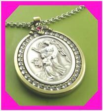Brighton Art Soul Guardian Angel Reversible Medallion Necklace Nes