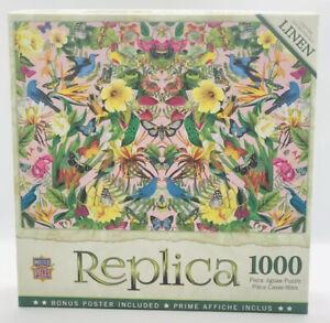 Master Pieces Replica Blue Birds 1000 Piece Linen Jigsaw Puzzle