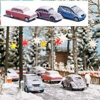 BUSCH 89010 - Set 3 uto coperte di neve, come in foto. Scala H0 1:87