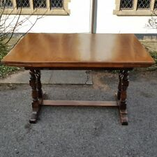 A Vintage Oak Drawleaf/Extending Dining Table with Heavily Turned Base Needs TLC
