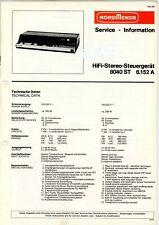NORDMENDE Service Manual 8040 ST  6.152 A HiFi Stereo Steuergerät