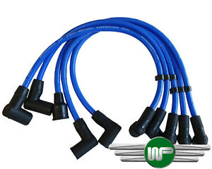 CLASSIC MINI - SILICONE SPARK PLUG LEAD SET IN BLUE - GHT241BLUE