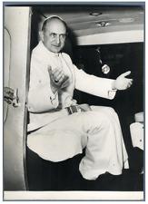 Pape Paul VI Vintage silver print Tirage argentique  11x16  Circa 1964