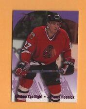 1994-95 Flair CENTER SPOTLIGHT Insert # 10 Jeremy Roenick CHICAGO BLACKHAWKS