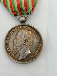 Medaglia Argento Risorgimento indipendenza Unità d'Italia Valor Regio Esercito