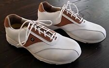 Etonic Golf Shoes GSW201-5 Women Size 9M White/Tan SOK