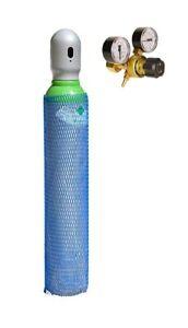 Neu Gasflasche gemischt Argon (82%)/CO2(18%) 8L Schweißgas MIG/MAG mit Minderer